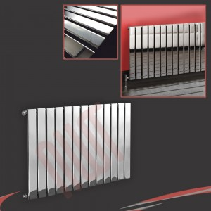 1000mm (w) x 600mm (h) Luna Chrome Radiator Horizontal Flat Panel (13 Sections)