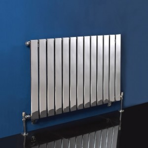 "1000mm (w) x 600mm (h) ""Luna"" Chrome Radiator Horizontal Flat Panel (13 Sections)"