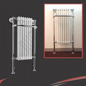 550mm x 1130mm Abbey Traditional Towel Rail
