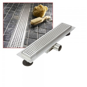 """Stainless Steel """"Rectangular"""" Wetroom Drainage System - 13 Sizes (300mm to 2000mm)"""