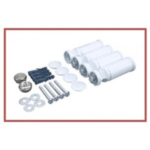 300mm (w) x 1800mm (h) Electric Straight White Towel Rail (Single Heat or Thermostatic Option)