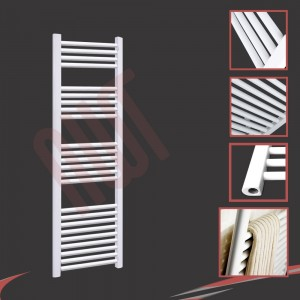 "500mm (w) x 1500mm (h) ""Straight White"" Towel Rail"
