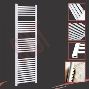 "500mm (w) x 1800mm (h) ""Straight White"" Towel Rail"