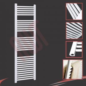 500mm (w) x 1800mm (h) Straight White Towel Rail