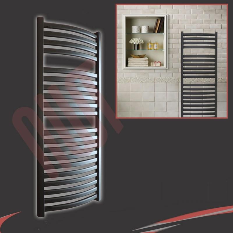 500mm(w) x 1100mm(h) Ellipse Black Towel Rail