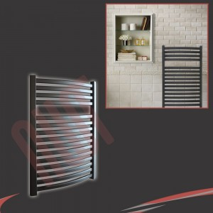 "600mm (w) x 800mm (h) ""Ellipse""Black Towel Rail"