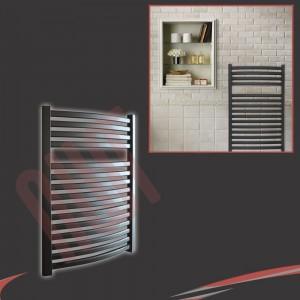 600mm(w) x 800mm(h) Ellipse Black Towel Rail