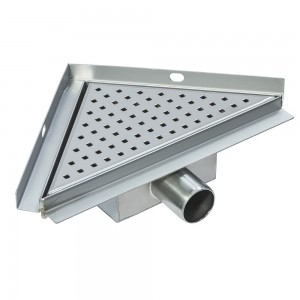 "150mm, 200mm, 250mm & 300mm Stainless Steel ""Triangular / Corner"" Wetroom room Drainage System"