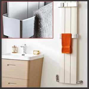 "Chrome Towel Bar for ""Thor"" Aluminium Radiators"