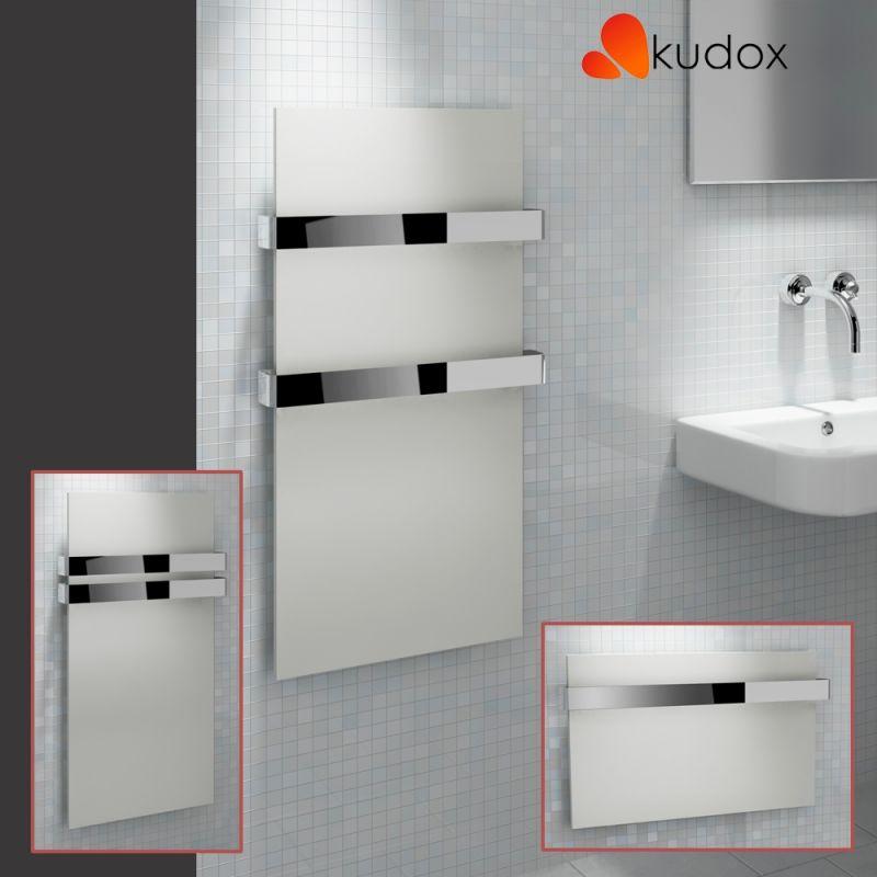 Kudox Ikon White Towel Rail Chrome Towel Bar