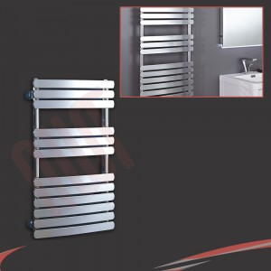 "500mm (w) x 800mm (h) ""Castell"" Chrome Designer Towel Rail"