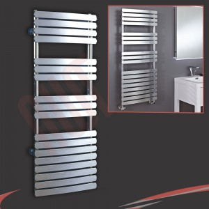 "500mm (w) x 1200mm (h) ""Castell"" Chrome Designer Towel Rail"