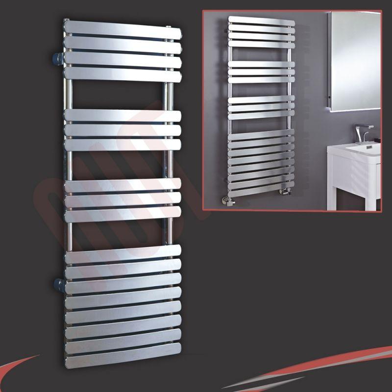 "Neptune Electric Towel Rail Chrome 1200mm X 500mm: 500mm (w) X 1200mm (h) ""Castell"" Chrome Designer Towel"