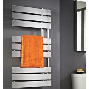 500mm (w) x 800mm (h) Apollo Chrome Heated Towel Rail