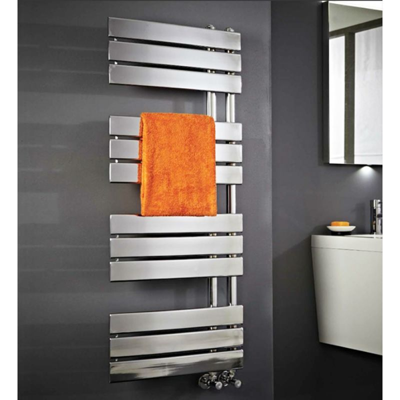 500mm W X 1200mm H Apollo Chrome Heated Towel Rail