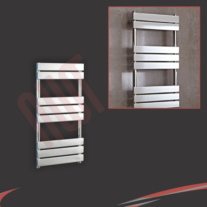 500mm x 950mm Vega Chrome Heated Designer Towel Rail Towel Warmer Radiator