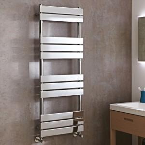 500mm x 1300mm Vega Chrome Heated Designer Towel Rail Towel Warmer Radiator