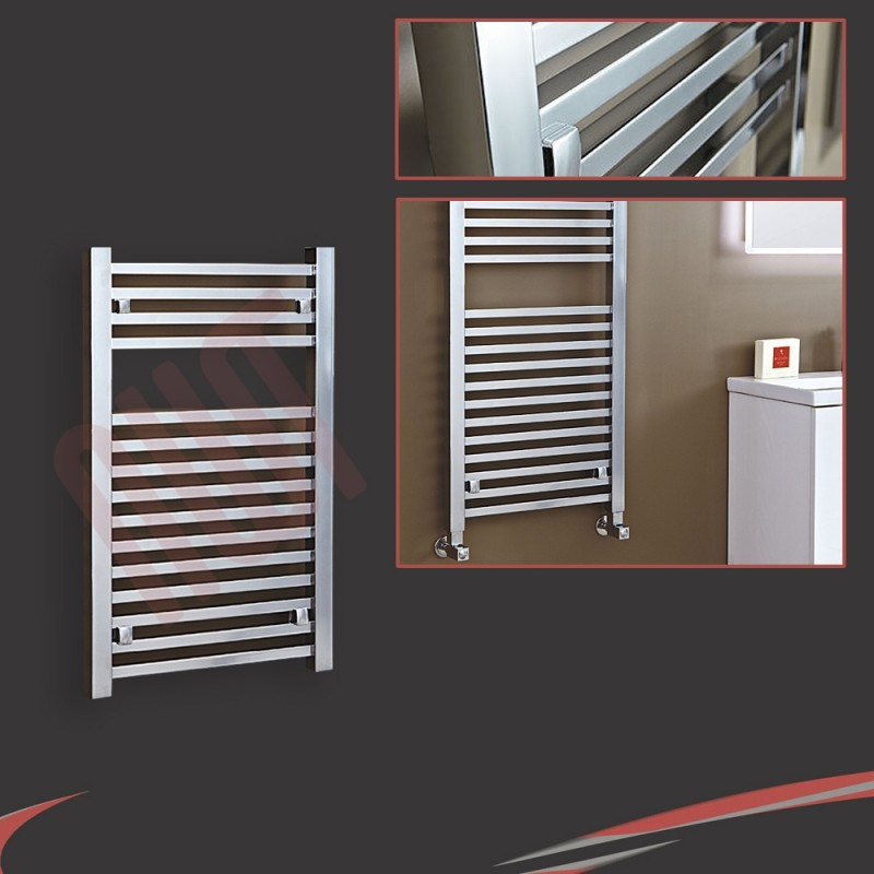 "500mm (w) x 800mm (h) ""Atlas"" Chrome Designer Towel Rail"