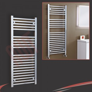 "500mm (w) x 1200mm (h) ""Atlas"" Chrome Designer Towel Rail"