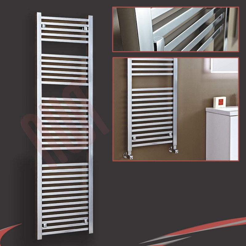 "500mm (w) x 1800mm (h) ""Atlas"" Chrome Designer Towel Rail"