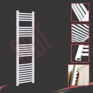 "300mm (w) x 1500mm (h) ""Straight White"" Towel Rail"