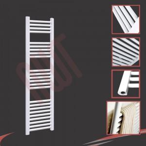 300mm (w) x 1500mm (h) Straight White Towel Rail