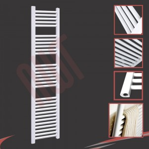 "300mm (w) x 1800mm (h) ""Straight White"" Towel Rail"