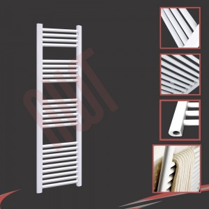 "400mm (w) x 1500mm (h) ""Straight White"" Towel Rail"