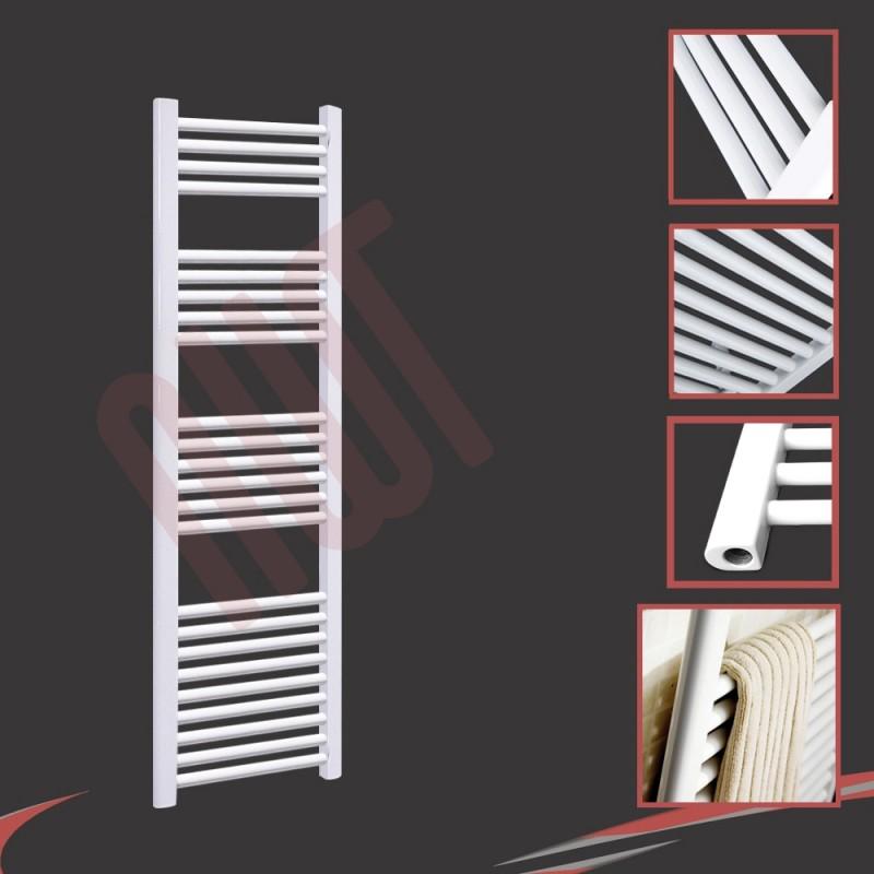 400mm (w) x 1500mm (h) Straight White Towel Rail