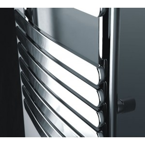 500mm (w) x 1200mm (h) Castell Electric Chrome Designer Towel Rail (Single Heat or Thermostatic Option)