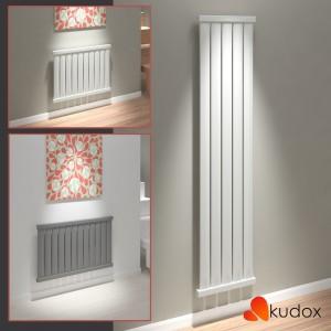 "Kudox ""Axim"" Horizontal & Vertical Designer Radiators - White or Anthracite (5 Sizes)"