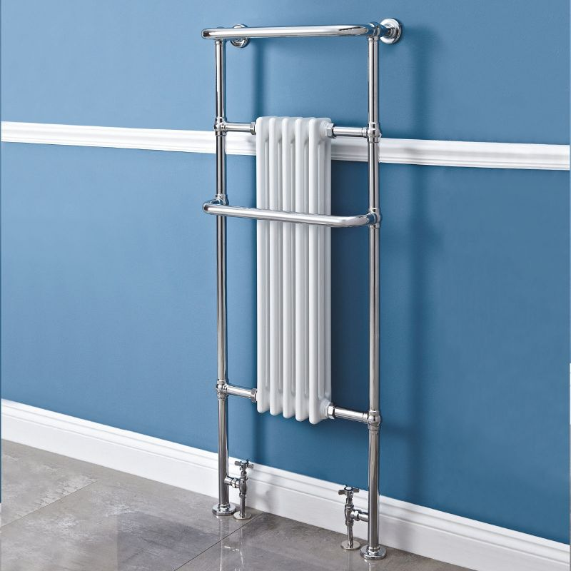 Heated Towel Rail Height From Floor: 590mm(w) X 1500mm(h) Windsor Traditional Heated Towel Rail