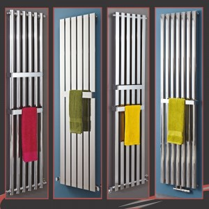 "300mm(w) OR 400mm(w) Chrome Towel Bars for ""Alpha, Avantis, Luna, Metis & Elias"" Radiators"