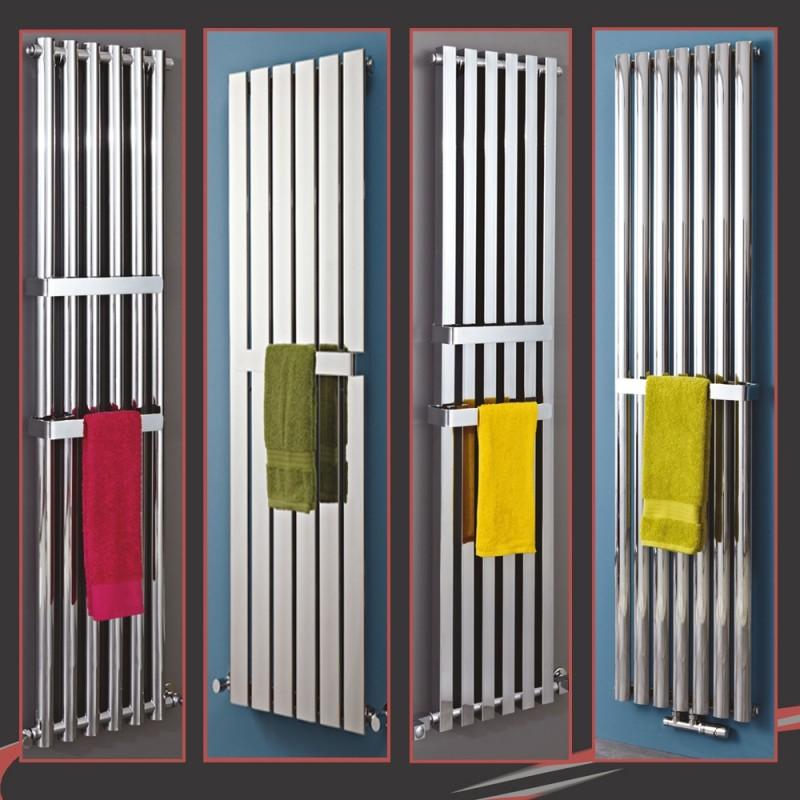 "300mm(w) OR 400mm(w) Chrome Towel Bars for ""Alpha, Avantis, Luna, Metis, Elias, Comet & Comb"" Radiators"