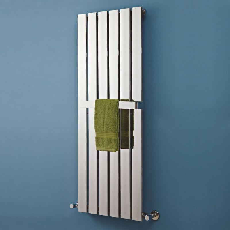 450mm w x 1200mm h quot luna quot designer chrome vertical designer radiators bathroom radiators amp designer towel