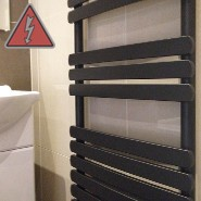 Designer Black Electric Towel Rails