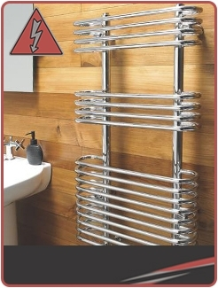 Designer Chrome Electric Towel Rails
