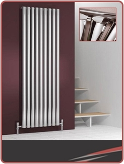 Vertical Chrome Radiators