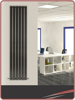 Vertical Black Radiators