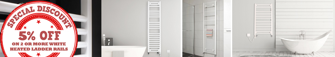 5% off Of multiple purchase White Ladder Radiators