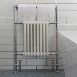 Traditional Chrome Towel Rail with some matching Crosshead Valves💦  #bathrooms #bathroominspo #houserenevation #renevation #traditional #interiordesign #interiorstyling #interiordecor #bathroomsofinsta #instabathroom #luxurybathroom #luxurysuite #bathtub #amazinghome #newbathroom #interior #decor #homeinspo #decorinspo #todaysphoto #towelrail #traditional