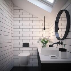 A dynamic black and white theme for this bathroom🚽  #interior #interiordesign #newhome #decor #interiorinspo #decorinspo #plumbing #plumbinglife #houserenevation #renevation #traditional #interiordesign #interiorstyling #interiordecor #bathroomsofinsta #luxurybathroom #luxurysuite #bathtub #amazinghome #newbathroom #interior #decor #homeinspo #towel #todayspic #heat #bathroomdesign